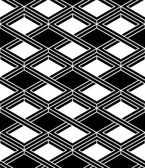 Illusive continuous monochrome pattern — Stock Vector