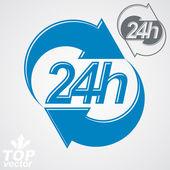 24 hours graphic symbol — Stock Vector