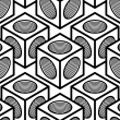Black and white symmetric seamless pattern — Stock Vector #75186405