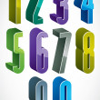3d colorful numbers set — Stock Vector #75186583