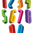 3d colorful numbers set — Stock Vector #75186927