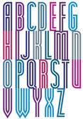 Decorative striped font — Stock Vector