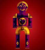 Colorful pagan idol — Stock Vector