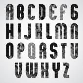 Letras de dotty negro — Vector de stock