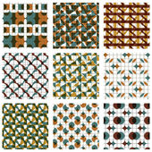 Set of colored grate seamless patterns — Stock Vector