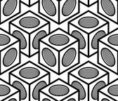 Black and white symmetric seamless pattern — Vecteur