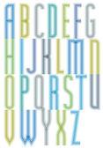 Geometric decorative splicing font — Stock Vector