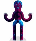 Colorful geometric avatar — Stock Vector