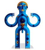 Geometric mythic creature — Stock Vector