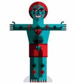 Blue and red avant-garde avatar — Stock Vector