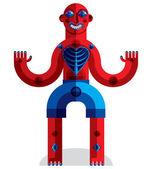 Colorful spiritual idol — Stock Vector