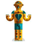 Colorful drawing of  pagan idol. — Stock Vector