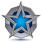 Celebrative metallic geometric symbol — Stock Vector