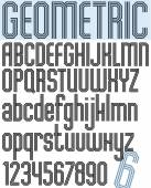 Geometric stylish ink font — Stok Vektör