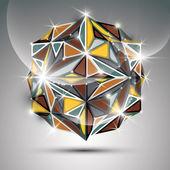 Gold shiny sphere. — Stock Vector