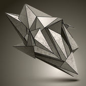 Deformed sharp zink object — Stock Vector