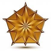 Sophisticated golden star emblem — Stock Vector