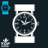 White wristwatch illustration — Stock Vector