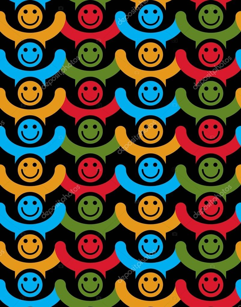 Colorful smiley faces backgrounds