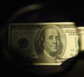 Close up van dollarbiljet — Stockfoto