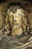 Broken face of Jesus Christ (fragment) — Foto de Stock