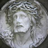 Jesus Christ in a crown of thorns — Stock Photo