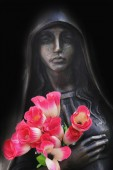 Staty av jungfru maria — Stockfoto