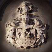 Medieval coat of arms — Stock Photo