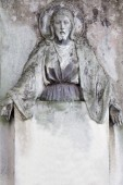 Jesus Christ (statue on cemetery) — Stock Photo