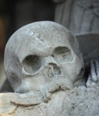 Death's-head (statue) — Stock Photo