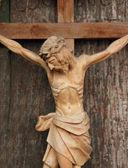 Heliga korsets med korsfäste jesus kristus — Stockfoto