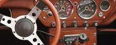 Retro samochodów fragmentu — Zdjęcie stockowe