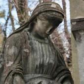 Statue der frauen am grab — Stockfoto