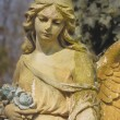 Vintage image of a sad angel on a cemetery against the backgroun — Stock Photo #69771329