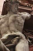 Hercules (fragment of the statue) — Stock Photo