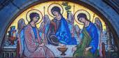 Holy Trinity mosaic — Stock Photo