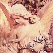 Angel as a symbol of love, kindness, and suffering (styled vinta — Stock Photo