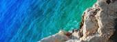 Fundo do mar fantástico final verde azul. mar mediterrâneo, eur — Fotografia Stock