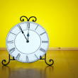Old antique wall clock isolated — Stock Photo #52387321