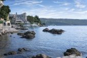 Mediterranean city Opatija Seascape — Stock Photo