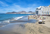 Canteras beach in Gran Canaria Spain — Foto Stock