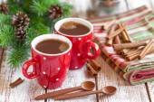 Hot cocoa drink — Stock Photo