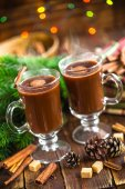 Christmas cocoa drink — Stock Photo
