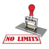 No limits beautiful stamp — Stock Photo