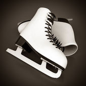 Skates for figure skating — Stock Photo