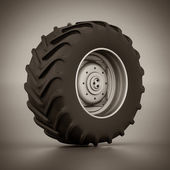 Tractor wheel isolated — Stock Photo