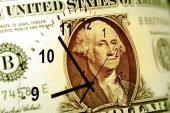 O tempo é o conceito de dinheiro — Fotografia Stock