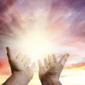 Hands in sky — Stock Photo