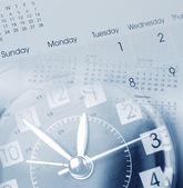 Clock and calendars — Stock Photo