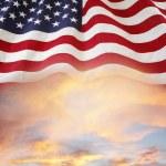 Flag and sky — Stock Photo #67771013